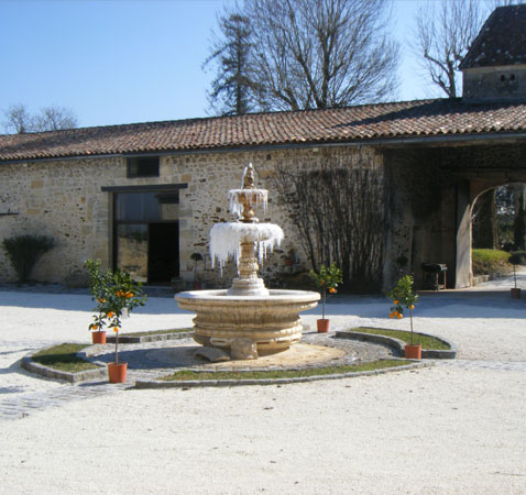the fountain of the courtyard